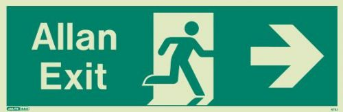 (471UR) Jalite Welsh Exit Sign Allan - Progress to the Right from Here